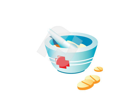 Medical: Clipart de mortier pharmaceutique #00365