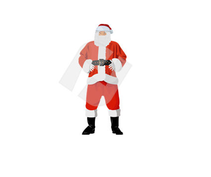 Santa Claus Vector Clip Art, 00371, Holiday/Special Occasion — PoweredTemplate.com