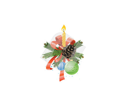 Holiday/Special Occasion: Candle Centerpieces Vector Clip Art #00378