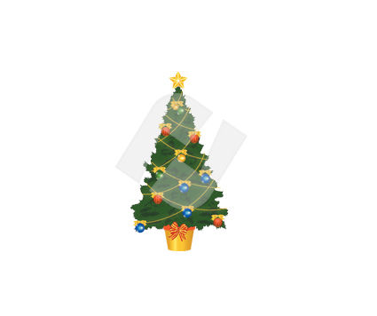 New Year Tree Vector Clip Art, 00380, Holiday/Special Occasion — PoweredTemplate.com