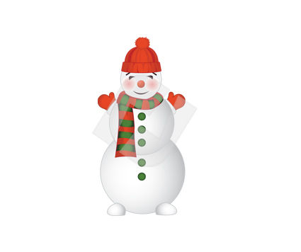 Holiday/Special Occasion: Snowman Vector Clip Art #00381
