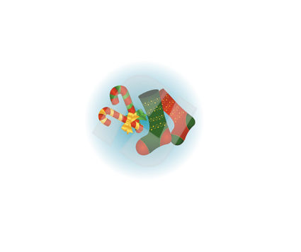 Holiday/Special Occasion: Gift Sock Vector Clip Art #00383