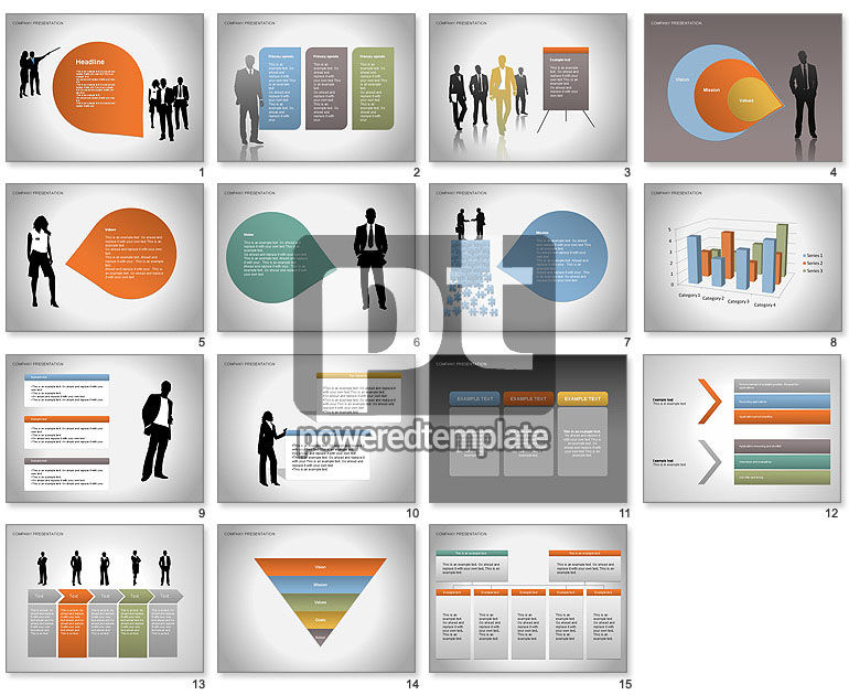 Company Presentation Diagrams