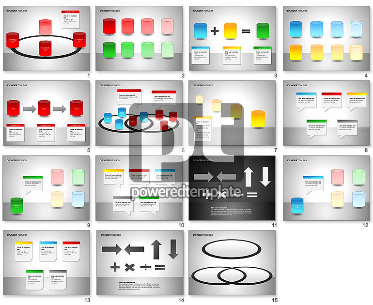 free cylinders shapes for powerpoint presentations download now