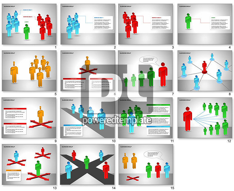 Business Group Diagrams Collection