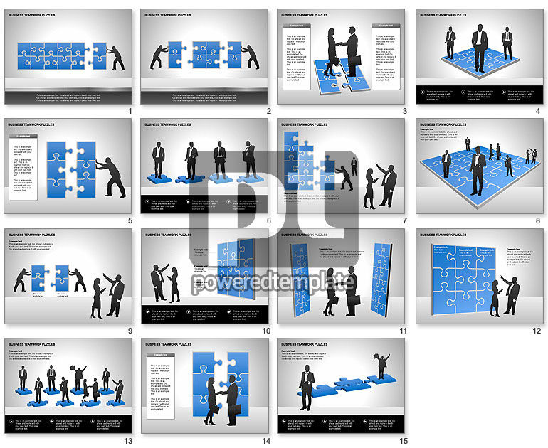 Business Teamwork Puzzles Diagrams