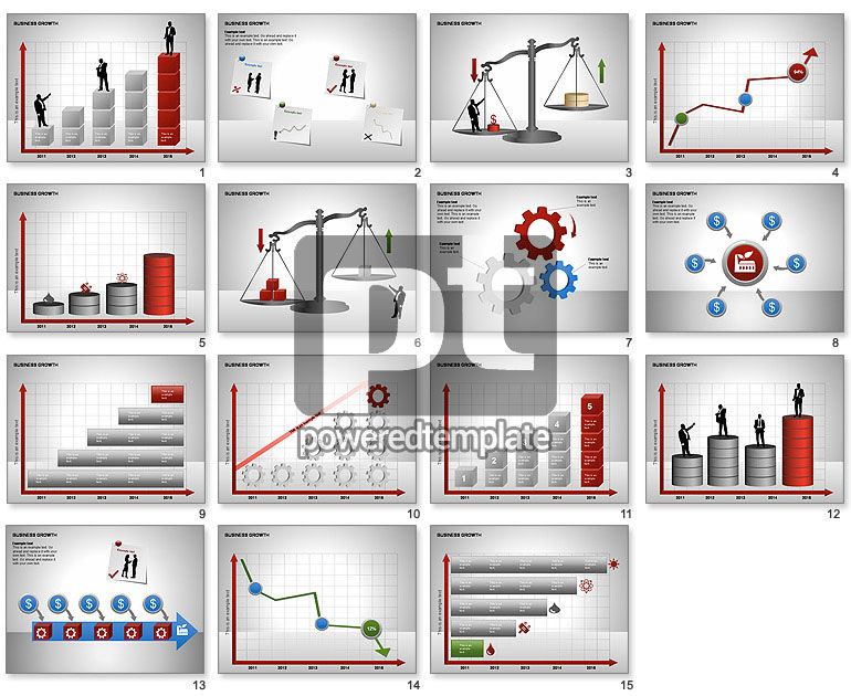 Business Results Growth Diagrams