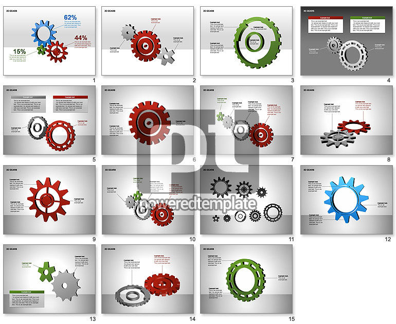 3D Gears Shapes