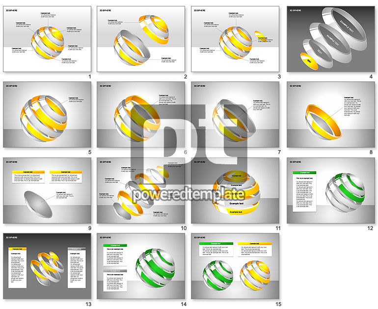 3D Sphere Charts