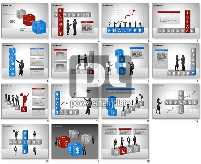 Business Cubes Diagrams