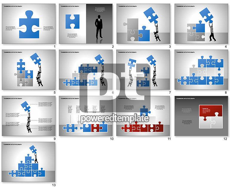 Teamwork Puzzles Diagrams