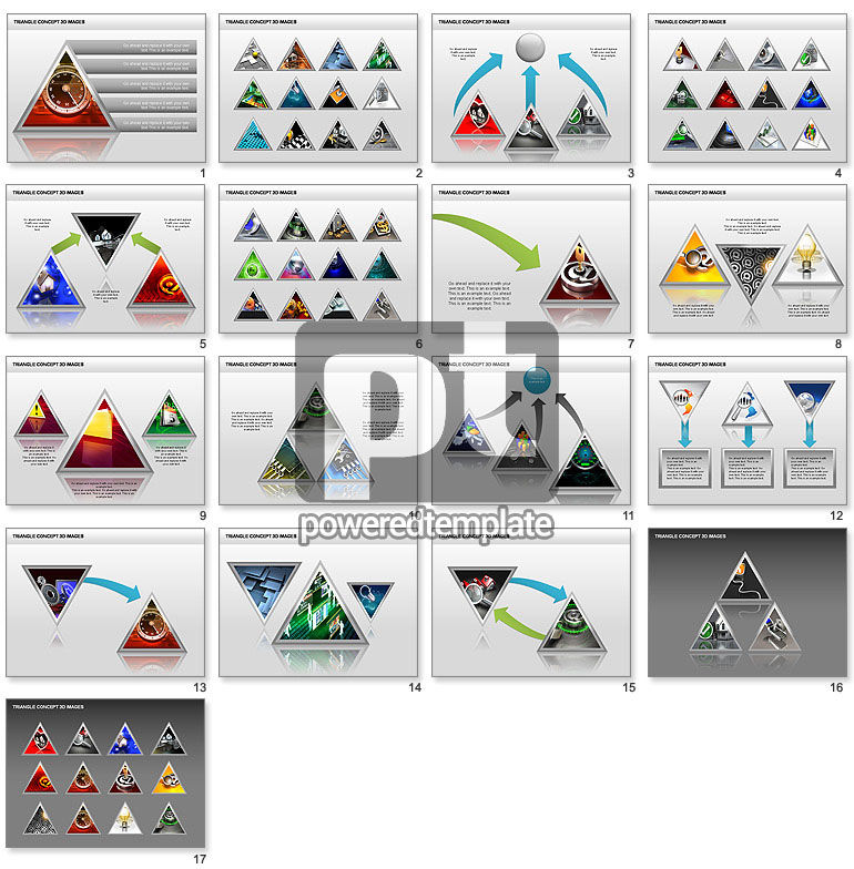 Triangle Concept 3D with Images