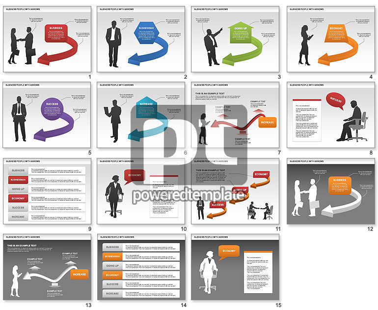 Business Silhouettes Diagrams