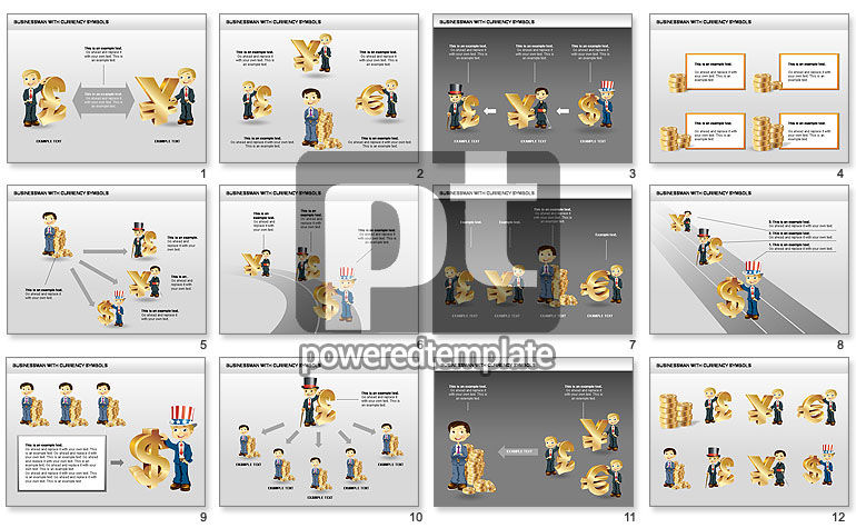 Currency and Businessman Icons
