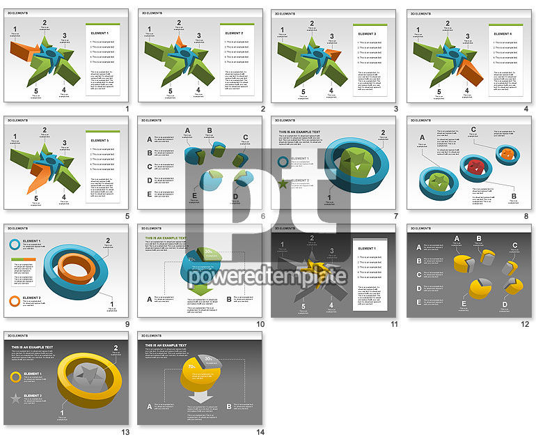 free 3d shapes with stars for powerpoint presentations download now