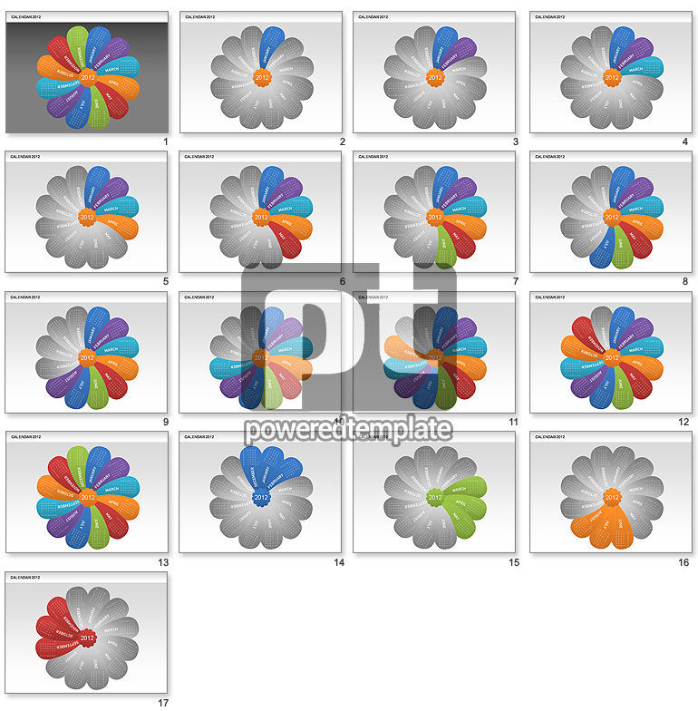 PowerPoint Petals Calendar 2012