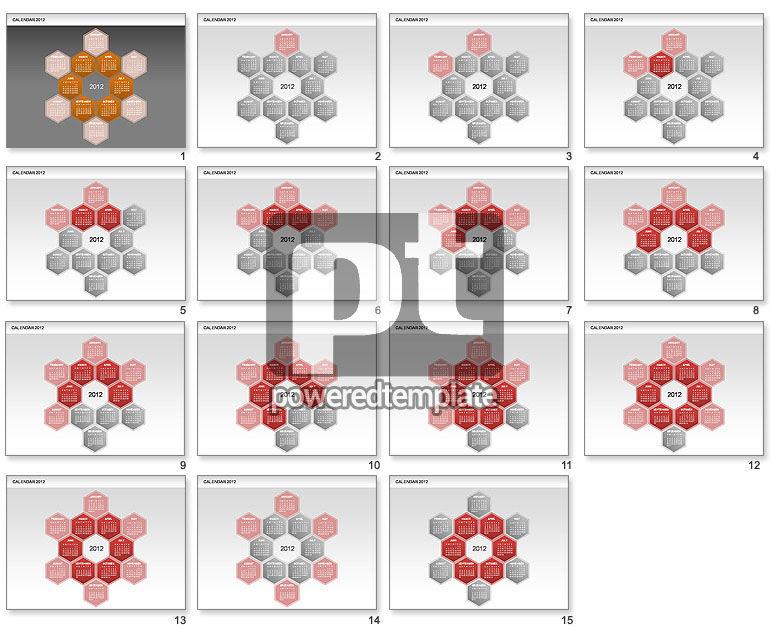 Free PowerPoint Diamond Calendar