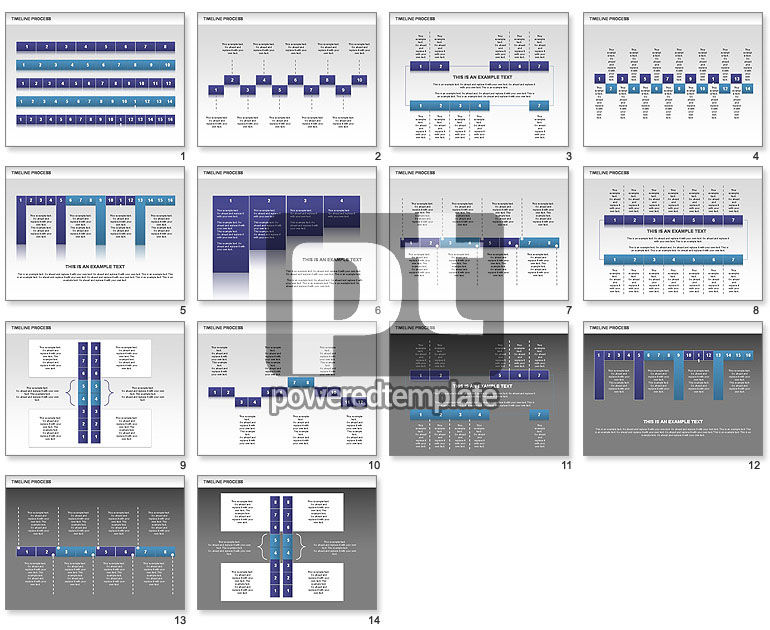 Blue Blocks Timeline Process Toolbox