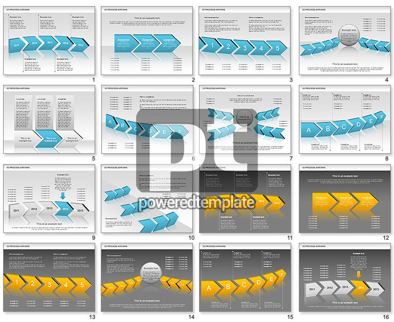 3D Process Arrows