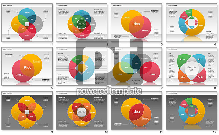 Colorful Venn Diagram For Powerpoint Presentations Download Now