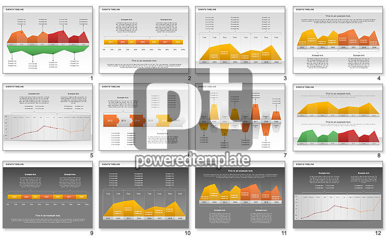 events timeline diagram for powerpoint presentations  download now    events timeline diagram