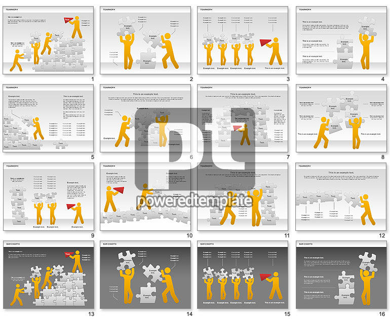 Teamwork with Puzzles Diagram