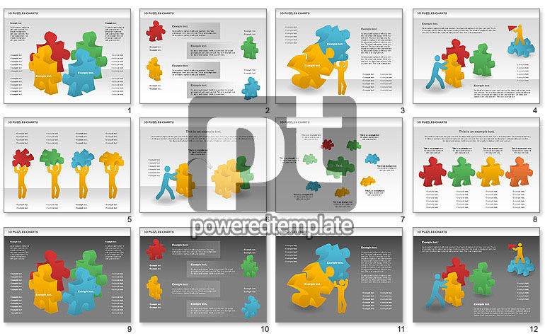 3D Puzzles Charts