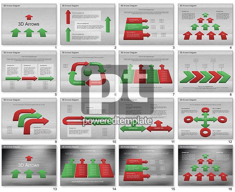 3D Process Arrows Collection