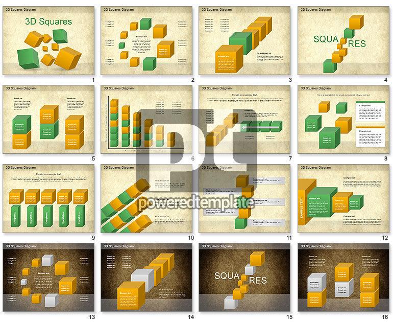 3D Squares Diagram