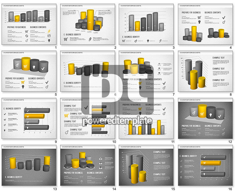 Cylinder Bar Chart For Powerpoint Presentations Download Now 01251
