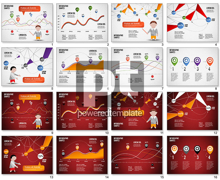 Infographics Shapes and Charts