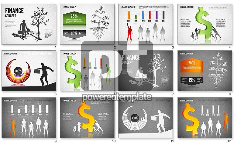 Financial Concept Diagrams Set