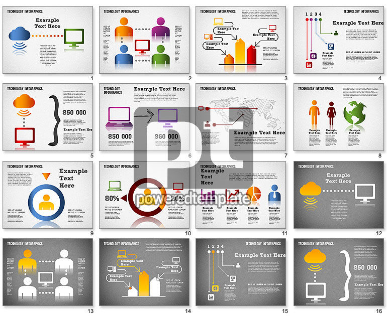 Technology Infographics For Powerpoint Presentations