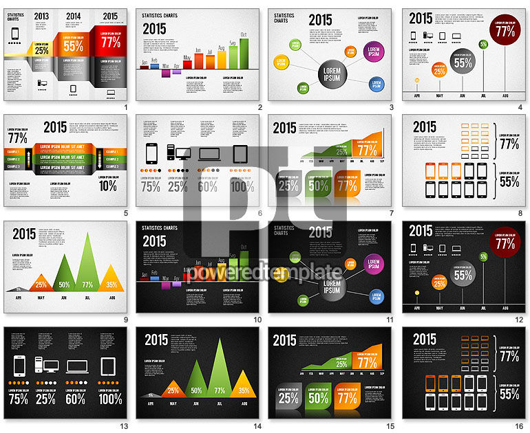 Infographics Charts Toolbox For Powerpoint Presentations