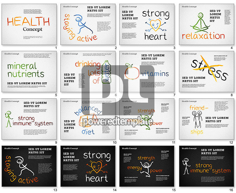 Healthy Lifestyle Concept Shapes