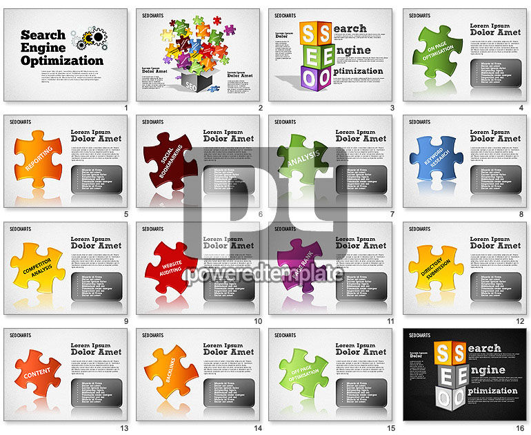Search Engine Optimization Puzzle Diagram