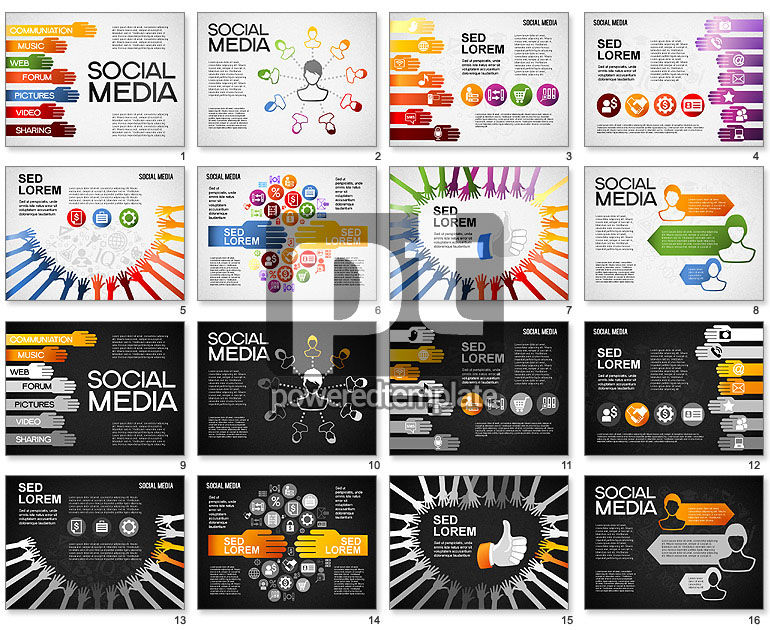 Social Media Shapes and Icons