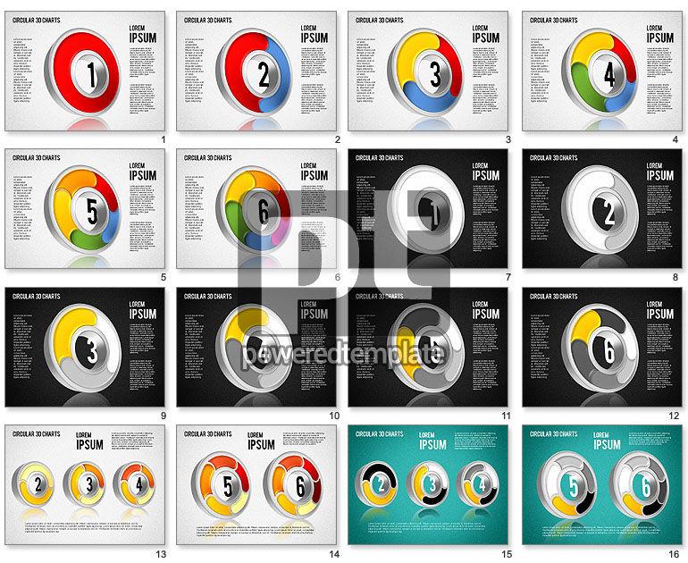 Circular 3D Charts