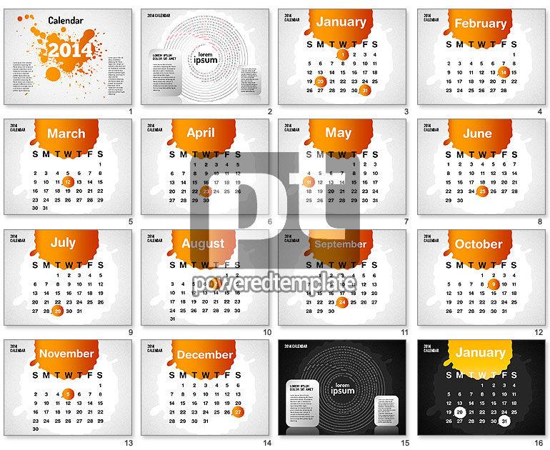 PowerPoint Calendar 2014