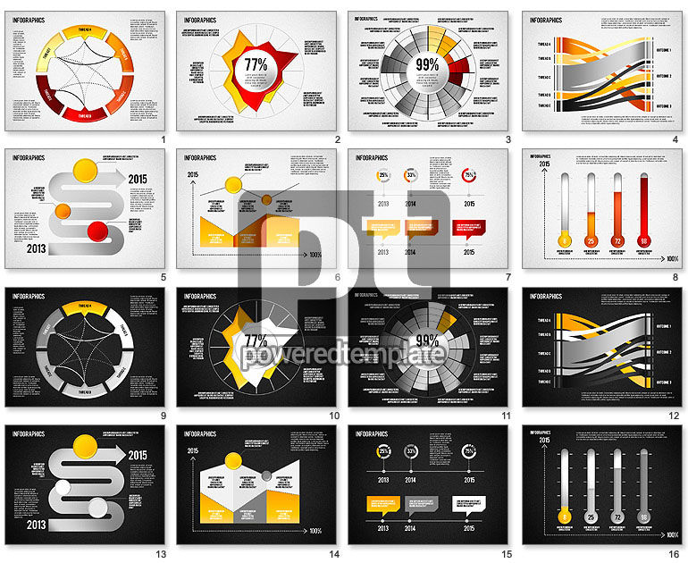 Set of Infographic Diagrams