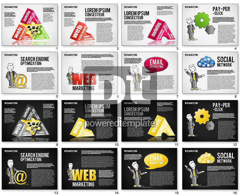 Web Marketing Diagram