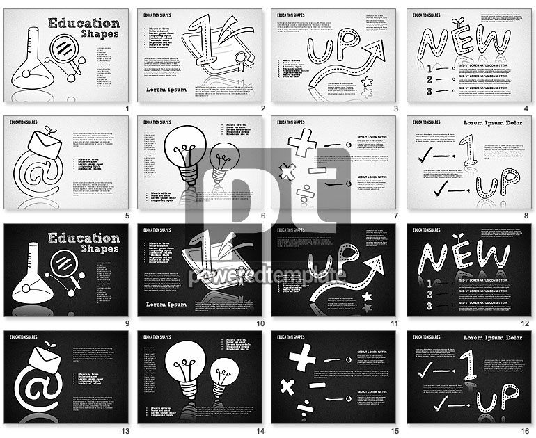 Hand Drawn Style Education Shapes