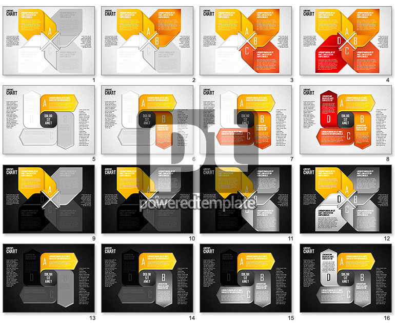 Pinwheel Style Process Shapes