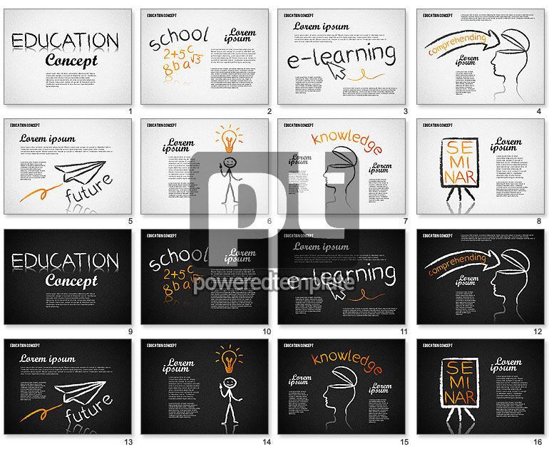 Education Concept Shapes