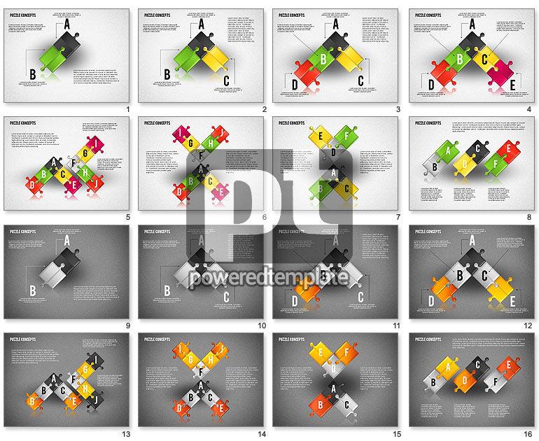 Puzzle Pieces Connections Diagram