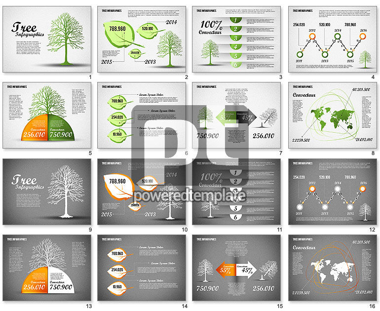 Green Tree Infographics