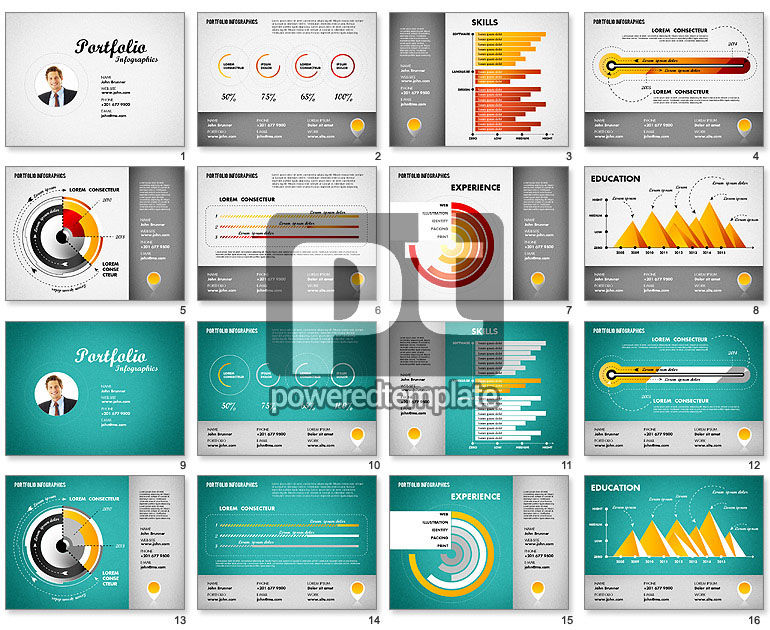 resume template for powerpoint presentations  download now 01776