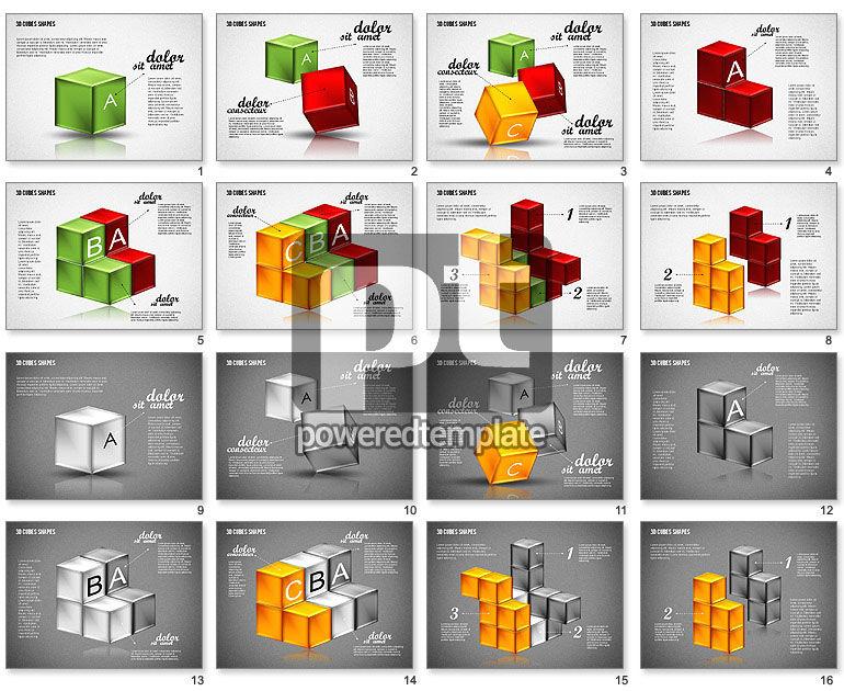 3D Cubes Shapes