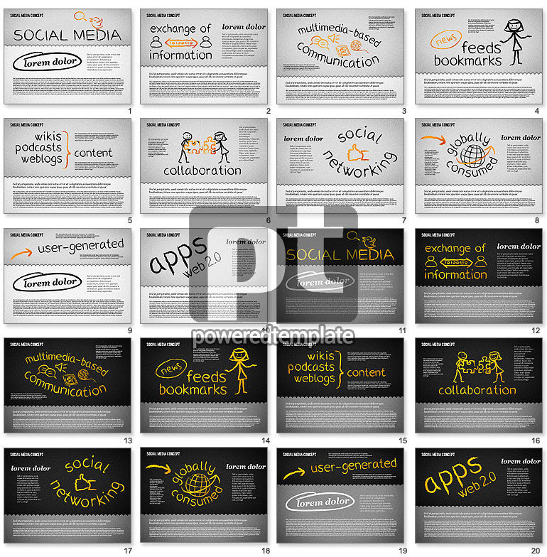 Social Media Presentation Concept