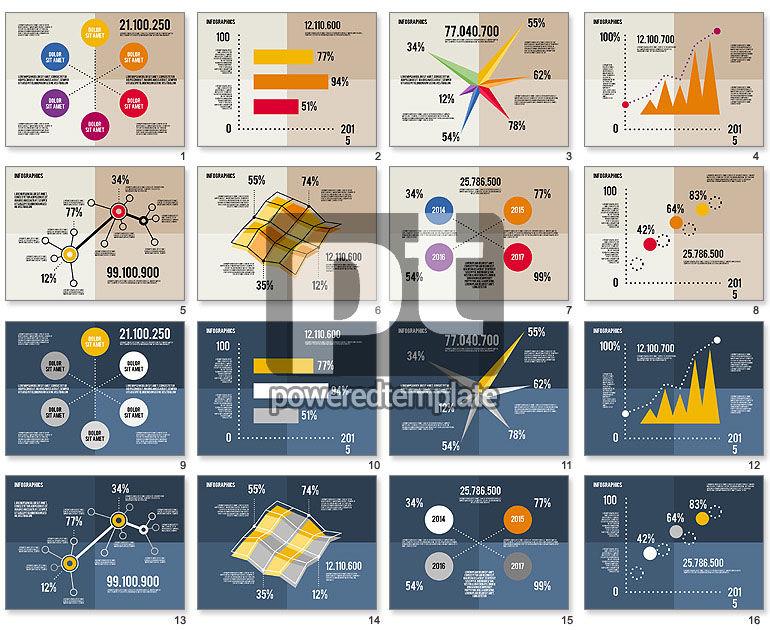 평면 디자인의 다이어그램 도구 상자